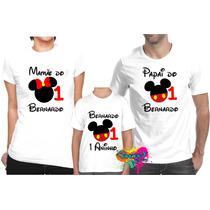 Camiseta - Camisa Personalizada Mickey 3 Peças
