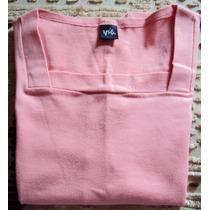 006 Rop- Roupa Blusa Camiseta Moda Atual- Rosa- Malha