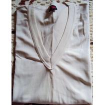 012 Rop- Roupa Blusa Camiseta Moda Atual- Bege