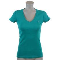Camiseta Tommy Hilfiger Gola V - Feminina