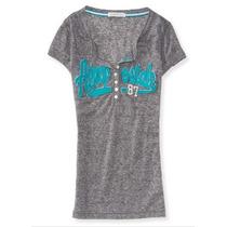 Camiseta Aeropostale Feminina Várias Cores - Original!