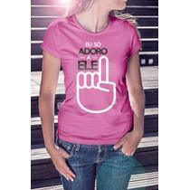 Camiseta Baby Look 100% Algodão Penteado Rosa Bebe