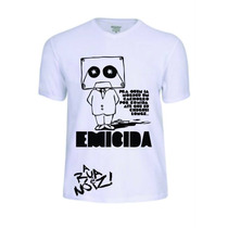Camisas Mc Emicida Rap Rapper Banda Baby Look Camisetas Pop