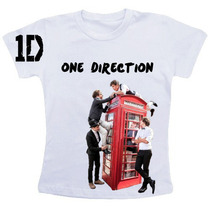 Camiseta Baby Look One Direction 2014 Frete Gratis