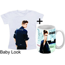 Kit Camisetas + Caneca Justin Bieber Exclusiva