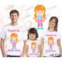 Lembrança De Aniversario Palhacinha Camiseta Kit Com 3