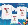Kit Camisetas Personalizadas Aniversário Mickey Mouse Balões