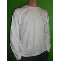 Camiseta Manga Longa 100%algodão Fio 30.1 Lisa Em Cores