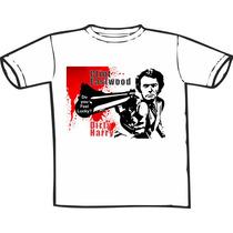Camiseta Clint Dirty Harry Estampas Exclusivas Só Nós Temos!
