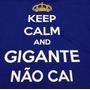 Camisa Cruzeiro Keep Calm And Gigante Não Cai Masculino