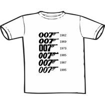 Camiseta 007 Evolution Estampas Exclusivas! Só Nós Temos!