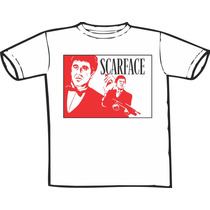 Camiseta Scarface Pacino Estampas Exclusivas! Só Nós Temos!