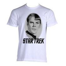 Camiseta Star Trek Jornada Nas Estrelas Spock & Kirk P A Gg