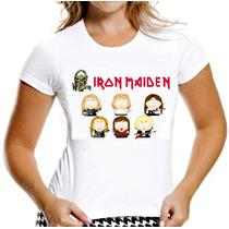 Camiseta Iron Maiden Camisa Baby Look South Park Mulher Fem