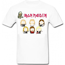 Camisa Iron Maiden South Park - Camiseta Metallica Ramones