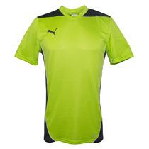 Camiseta Foundation Training Puma Verde Limão/cinza