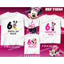Kit Camisetas Mickey Minnie Tal Mãe Tal Pai Tal Filho 3 Unid