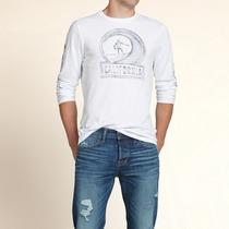 Camiseta Hollister Abercrombie Manga Longa Masculina