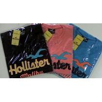 Camisetas Variadas Gola Redonda Hollister Lacoste Abercrombi
