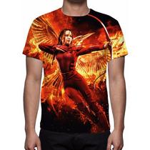 Camisa, Camiseta Jogos Vorazes A Esperança Parte 2 - Mod 03