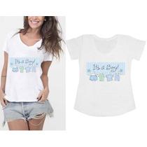 Blusa Bata Gestantes Gravidas É Menino Its A Boy
