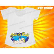 Camiseta Blusa Bata Gestante Gravida Chá De Bebê Fralda