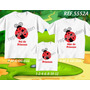 Lembrança De Aniversario Joaninha Camiseta Kit Com 3