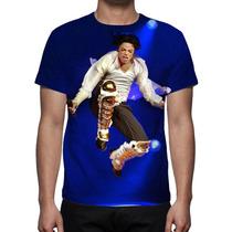Camisa, Camiseta Michael Jackson Turnê 02 - Estampa Total