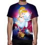 Camisa, Camiseta Disney A Cinderela - Estampa Total