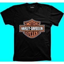 Camiseta Harley Davidson Motor Cycles - 100% Algodão