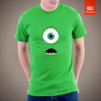 Camisetas Tv E Desenhos - Monstros S/a Mike Disney