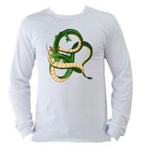 Camiseta Infantil Dragão Shenlong Dragon Bal Manga Longa 003