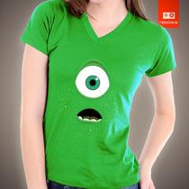 Camisetas Tv Filmes Desenhos Monstros S/a Mike Disney Pixar