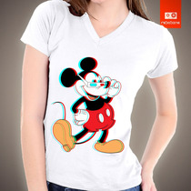 Camisetas Desenhos Animados - Mickey 3d Disney 100% Algodão