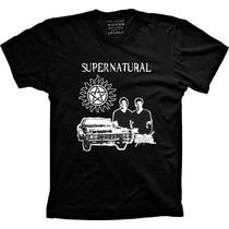 Camisetas Seriado Supernatural Sobrenatural Sam E Dean