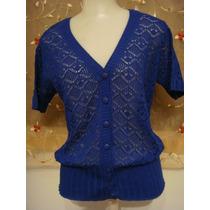 Blusa Camisa Azul Marinho Em Linha Tam. Unico Casaqueto