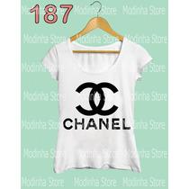 Blusa Tshirt Feminina Estampa Chanel Marca Moda 2016 Flamê