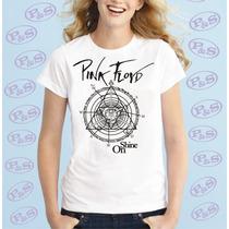 Camiseta Bandas Rock Pink Floyd Baby Look Feminina