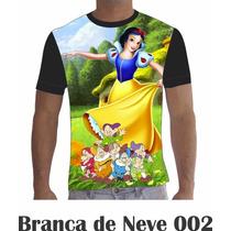 Camisa Camiseta Branca De Neve 002 Disney
