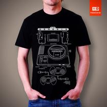 Camisetas Mega Drive Vídeo Games Jogos Console Sega 100% Alg