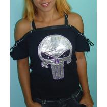 Camisa Blusa Camiseta Feminina Customizada Juticeiro Rock