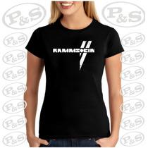 Camiseta Baby Look Feminina Bandas Rock Rammstein