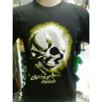 Camiseta Motoqueiro Fantasma Ghost Rider Cor Preta