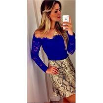 Blusa Blusinha Camisa Feminina Renda Com Tule