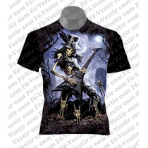 Camiseta Cavera - Rock - Metal - Guitarra