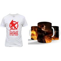 Kit Camiseta + Caneca Jogos Vorazes