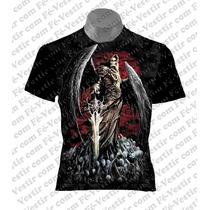 Camiseta Caveira - Rock - Metal