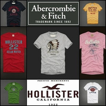 Camisetas Hollister E Abercrombie & Fitch 100% Original.