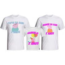 Kit Aniversário Infantil - 3 Camisetas Personalizadas!