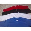 Camiseta, Gola V, Algodão, Branca,preta,sem Estampa,lisa,cor